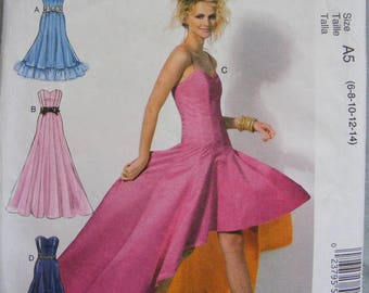 Misses' Formal Close Fitting Dress Uncut McCall's Sewing Pattern 6701 Size 6 8 10 12 14