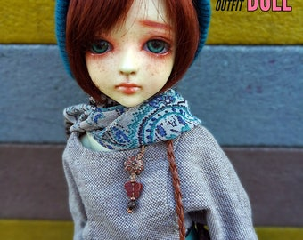 HarajukuDoll- I love teal outfit for msd minifee bjd msd