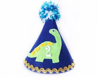 Blue Boy Dinosaur Birthday Party Hat, Baby Dinosaur Party Supplies, Dinosaur Cake Topper, First Birthday, Dino Birthday Outfit, Cake Smash