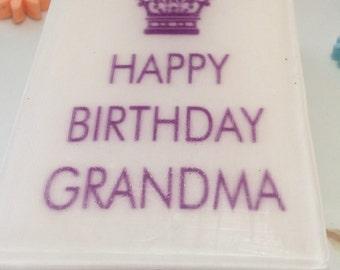 Happy birthday grandma gift soap