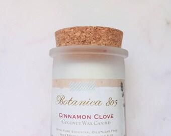 Cinnamon Clove Coconut Wax Candle | 6 oz