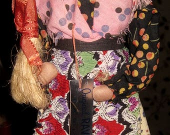 Bernard Ravca Stockinette Doll, Tagged, Paris