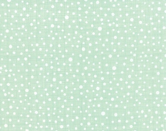 Winterberry Seasonal White Snowy Dots on Mint Green by Kate & Birdie for MODA - 13146-12