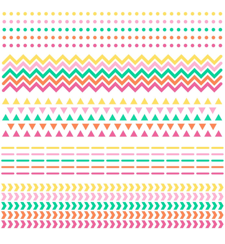 CLIPART-GRAFIK: Scrapbook Grenzen / / Chevron Dreiecke Punkte