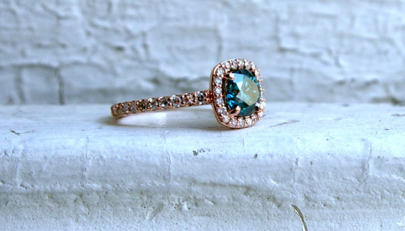 ring rose il listing halo gold pave and diamond blue