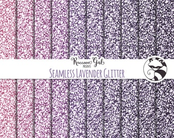 Seamless Lavender Glitter Digital Paper Set - Personal & Commercial Use