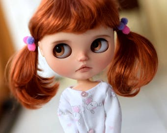 """9-10"""" BEAUTIFUL Red Fox doll WIG for Blythe and Neo Blythe Custom American Girl"""