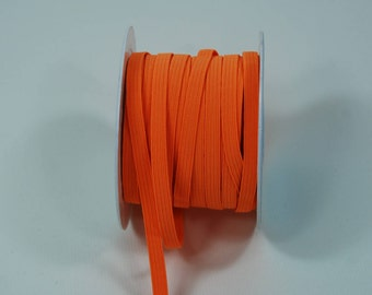 Flat 6 mm neon orange elastic band