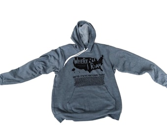 Explore America Sweatshirt hooded sweatshirt National Parks Sweatshirt, National Parks, Outdoor Explorer