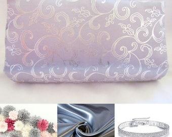 Silver Classy Cutch Purse, Prom Clutch, Bridal Clutch, Wedding Clutch, Silver Evening Clutch, Special Occasion Clutch, Bridesmaid Gift Idea