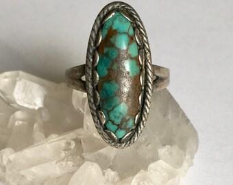 artisan turquoise ring, size 6.5