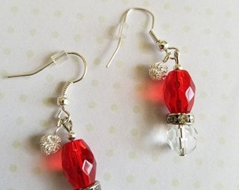 Christmas Santa Hat Earrings
