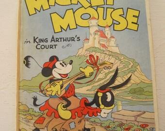 Mickey Mouse in King Arthur Gericht Pop-Up Buch 1933 Erstausgabe Walt Disney Unternehmen