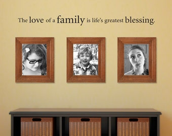 Love of a Family Decal - Life's Greatest Blessing Wall Decal - Family Gallery Wall Decal - Medium 2