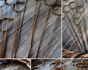 Tall wire card holders table number holder swirl stems pick wire card table number holder wedding diy spiral stems pick photo flat card memo pins holders greentooth Gallery