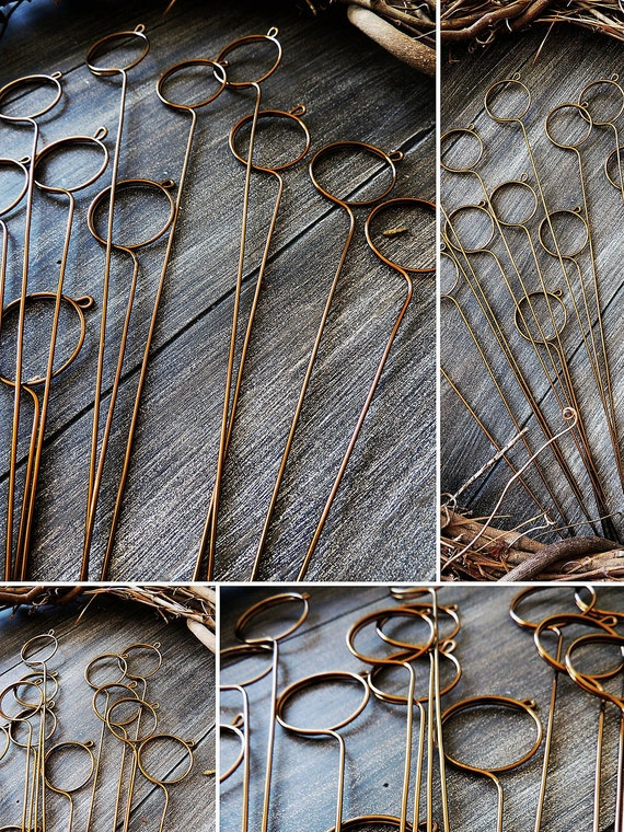 Wire card table number holder wedding diy spiral stems pick like this item greentooth Gallery