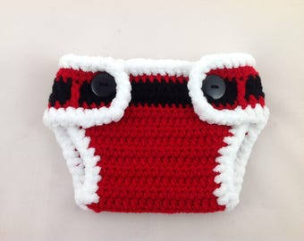 Santa Diaper Cover - Diaper Cover - Boy Diaper Cover - Diaper Cover Boy - Diaper Cover Girl - Diaper Cover for Boys - Diaper Cover for Girls
