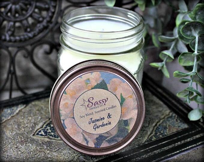 JASMINE & GARDENIA   Mason Jar Candle   Sassy Kandle Co.