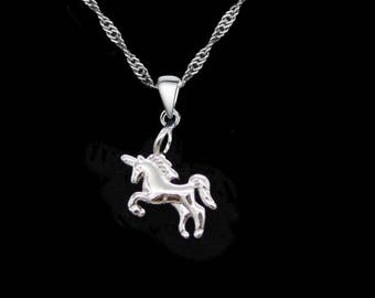 "Necklace ""Little Silver Unicorn"""
