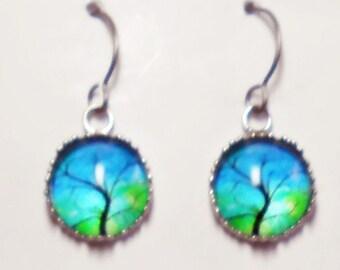 Tree of Life Earrings Titanium Hypoallergenic For Sensitive Ears