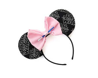 Black Star Wars Mouse Ears - CHOOSE YOUR BOW