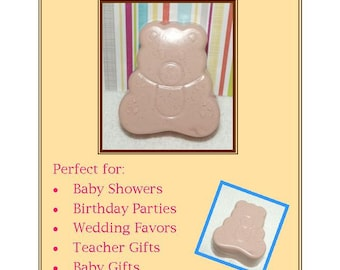 Teddy Bear Soap Favors, 10 Teddy Bear Soap Favors, Baby Shower Favors, Teddy Tea Party Favors
