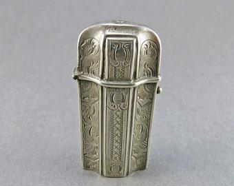 Victorian Antique Silver Vesta Case Dutch Antiques Silver Match Safe Smoking Collectibles