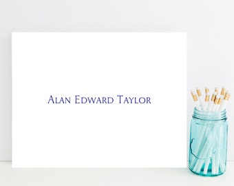 Simple, Masculine Customized Stationery - Men's Personalized Stationary