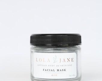 Charcoal Face Mask/Detox Clay Facial Mask/Clay Face Mask/All Natural Skincare/Charcoal and Bentonite Clay/Deep Pore/Purify/2oz