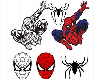 INSTANT DOWNLOAD - Spiderman Svg, Spiderman Clipart, Superhero Svg, Superhero Clipart, Spiderman Digital Download, Spiderman Svg Cut Files