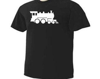 TRAIN ENGINE Railway Railroad Conductor Locomotive Picture  Hobby T-Shirt