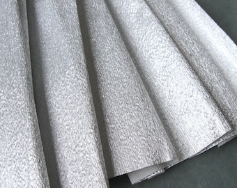 Silver Metallic Crepe Paper Roll 50x250cm Made in Germany