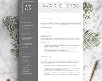 modern resume template for word and pages 1 2 3 page