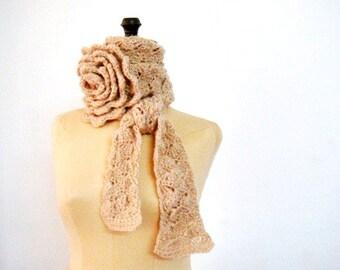 Crochet NeckWarmer Pattern Crocheted Scarflette Pattern Neck Tie Pattern, Crochet Belt Pattern 217