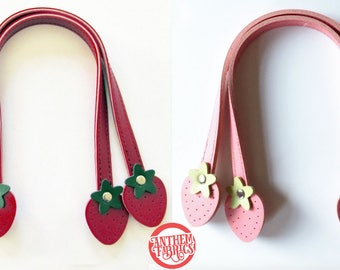 """Sweet Fruit Purse Handles By Atsuko for Lecien Japan - Strawberry 12"""" Small - 1 pair - choose a color"""