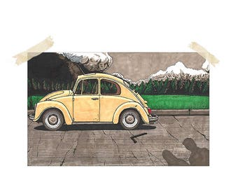 last night out in pacific northwest (ted bundy art print, 11x17)