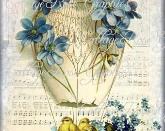 Vintage French Easter Joy card Large digital download ECS buy 3 get one free romantic cottage single image rdtt svfteam