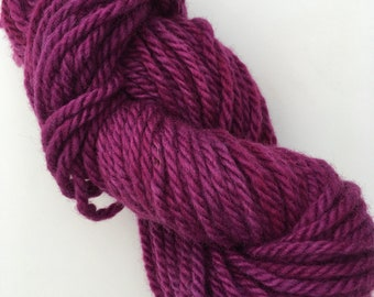 RADIANT ORCHID hand dyed wool yarn for rug punching and other fiber arts projects