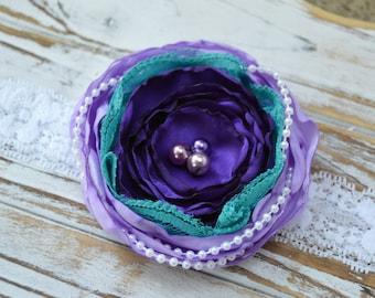 Mermaid Headband,  Inspired Headband, Fancy Headband, Mermaid Birthday, Ariel Headband, Purple Headband,  Teal Headband
