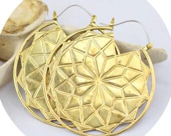 Helia Medallion Earrings in Gold
