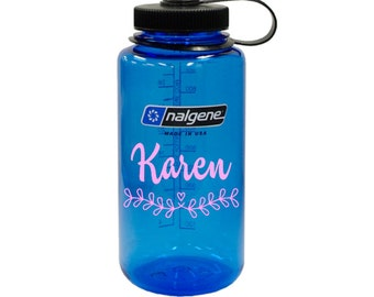 Personalized Decal for Your Nalgene Bottle // monogram decal // vinyl decal // water bottle decal // name decal // teacher gift //  DIY
