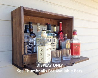 """24"""" Original/Unique S/O Horizontal Rustic MIGHTY Little Murphy """"Style"""" Bar/Mini Wall Bar/6.5""""D SLIDE OUT Serving Tray/Multipurpose Cabinet"""