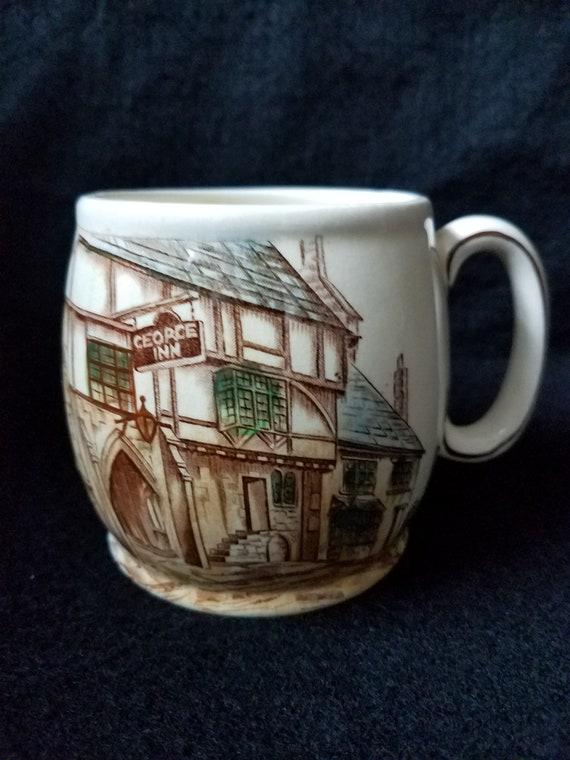 1950s Kirkham Pottery Mug of Medieval Inn