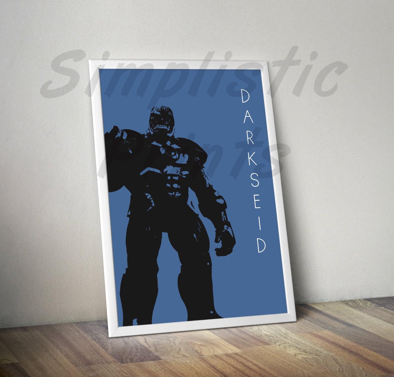 Darkseid Minimalist wall Art Wand print Plakat 8 x 10 11 x