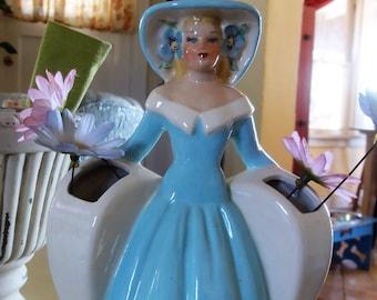 Vintage Southern Belle Flower Vase.