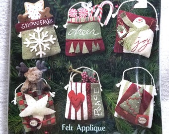 Feltworks Applique by Dimensions 8136, Holiday Pocket Ornaments, unopened, NIP, Rebecca Carter