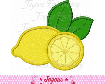 Instant Download Lemon Applique Embroidery Design NO:1523