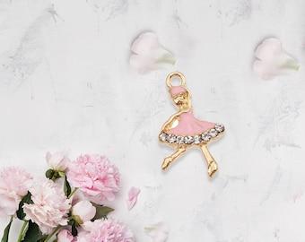 Charm Dancing Ballerina Pink
