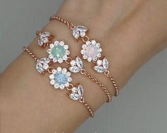 Crystal Bracelet, Stacking Bracelets, Bridesmaid Gift,  Bezel Bracelet,  Stack bracelets, Swarovski Rhinestone Bracelet, Thin Bracelet