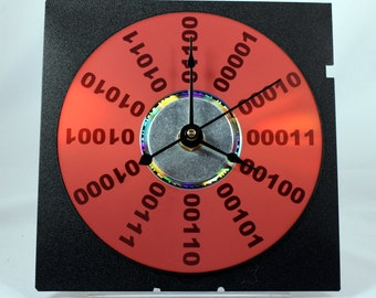Binary Number Computer Clock